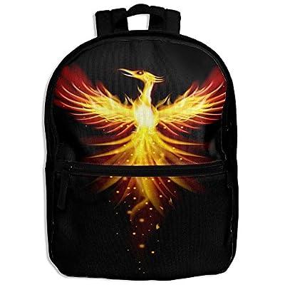 new Fire Phoenix Black School Backpack Travel Bags Bookbag For Kids