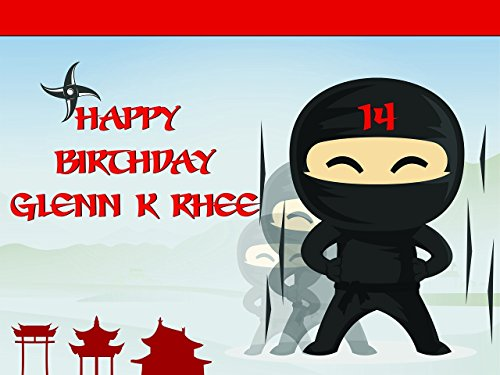 Custom Home Decor Ninja Birthday Poster for Kids and Adults - Size 36x24, 48x24, 48x36; Personalized Ninja Warrior Birthday Banner Wall Décor, Handmade Party Supply Poster Print
