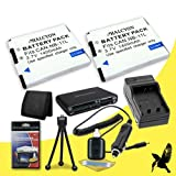 Two Halcyon 1400 mAH Lithium Ion Replacement NB-11L Battery and Charger Kit + Memory Card Wallet + SDHC Card USB Reader + Deluxe Starter Kit for Canon PowerShot A2500 16.0 MP Digital Camera and Canon NB-11L