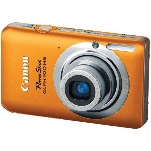 Canon PowerShot ELPH 100 HS 12 MP CMOS Digital Camera with 4X Optical Zoom (Orange)