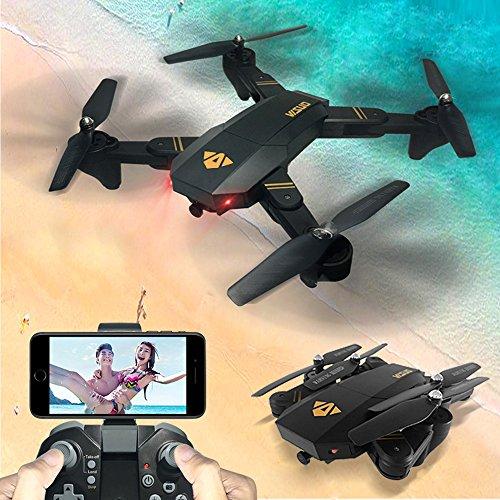Yu2d_ Drone Accessories Yu2d VISUO XS809HW WiFi FPV 2MP Camera 2.4G Selfie RC Quadcopter Toys