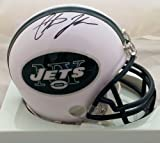 Chris Johnson Signed New York Jets Mini Helmet JSA