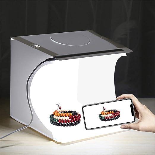YLOVOW Mini Caja Plegable De Estudio Fotográfico Plegable, 2LED ...