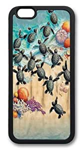iphone 6 plus Case and Cover -Green Turtle Hatchlings TPU Silicone Rubber Case Cover for iphone 6 plus and iphone 6 plus 5.5 inc Black
