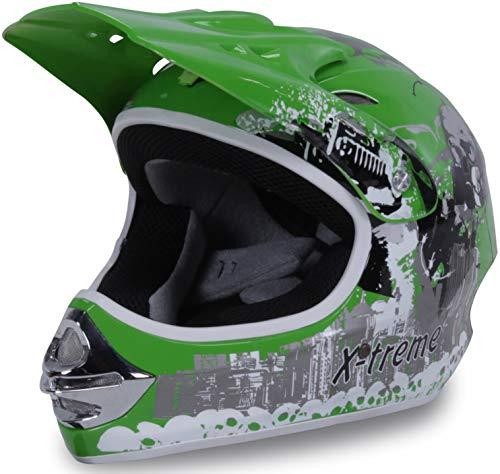 Actionbikes Motors Motorradhelm X-Treme Kinder Cross Helme Sturzhelm Schutzhelm Helm für Motorrad Kinderquad und…