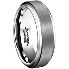 Do you have any concerns about the ring? Is the ring easy to deform, discolored, or easy to scratch? This MNH's tungsten ring can completely allay your concerns.MNH tungsten rings are made of high hardness tungsten carbide, it is durable and ...