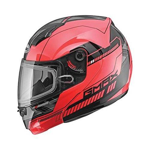 G-Max MD04 Quadrant Snow Helmet Red/Black (Red, X-Small)