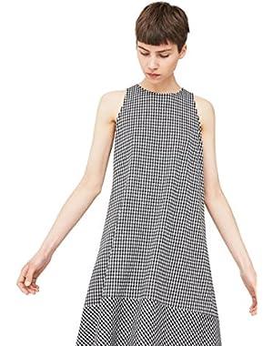 Mango Women's Gingham Check Dress