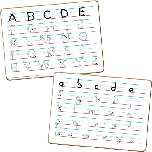 Really Good Stuff Trace 'N' Erase Two-Sided Alphabet Dry Erase Boards Dry Erase Alphabet Board