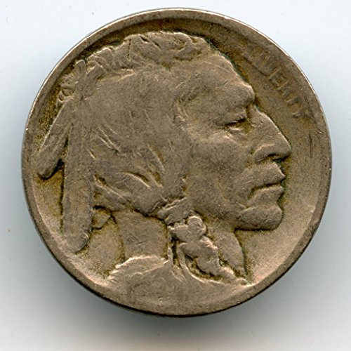 1913 Type (1913 Indian Head Buffalo Type One Nickel VG-8)