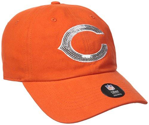 NFL Chicago Bears Women's Sparkle Clean Up Hat, Women's, Orange (Sparkle Bear)