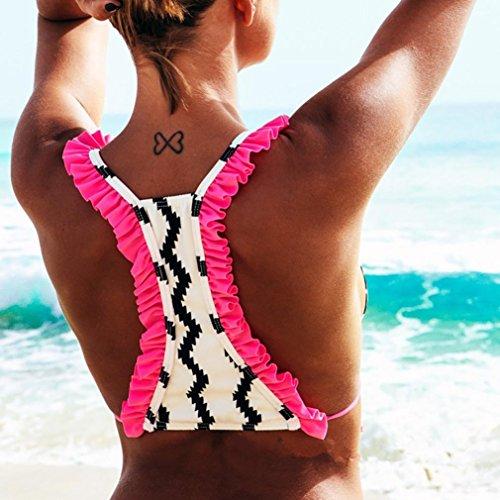 Due Beautyjourney Costumi Bianca Costume Pezzi Da Copri Bikini Bagno Donna Intero Mare qSIASrw
