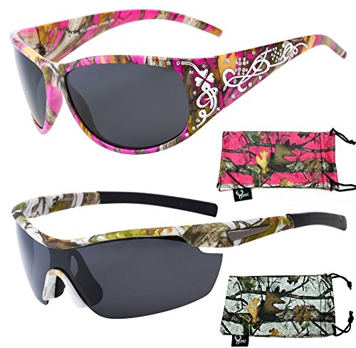 His & Her's Polarized Camouflage Sunglasses - Camo patter...