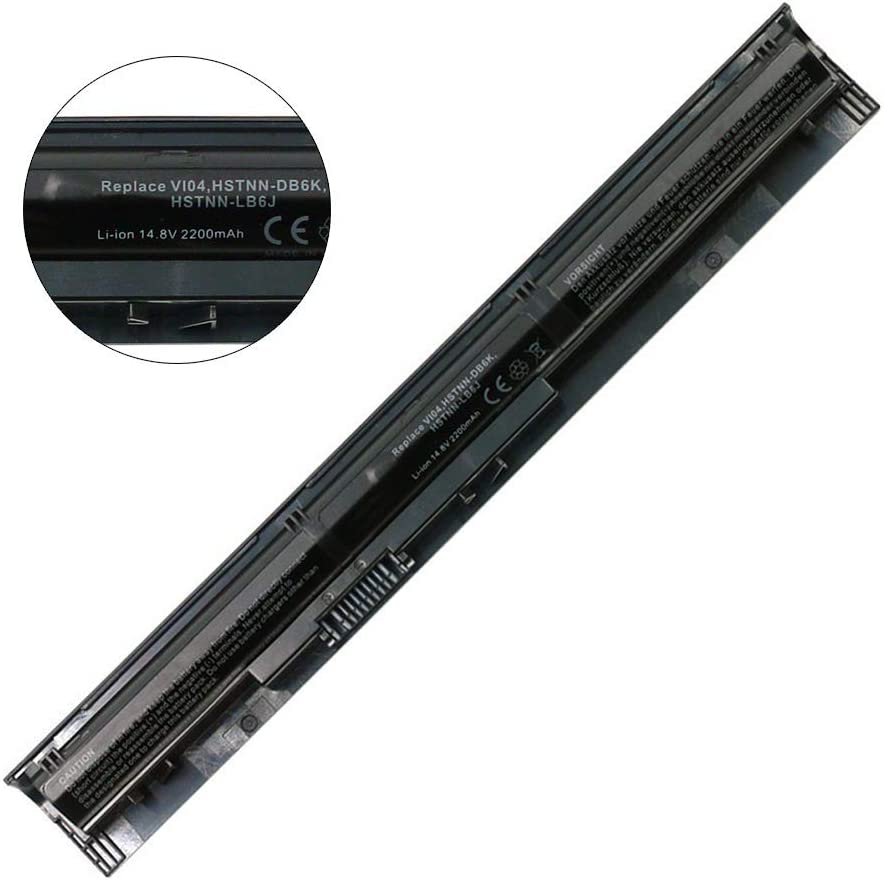VI04 756743-001 Battery Replacement for HP ProBook 440 G2 450 G2 TPN Q139 Q140 Q141 Q142 Q143 fit for HP Envy 14 15 17 Series Spare 756743-001 756745-001 756479-421 HSTNN-DB6K HSTNN-LB6K