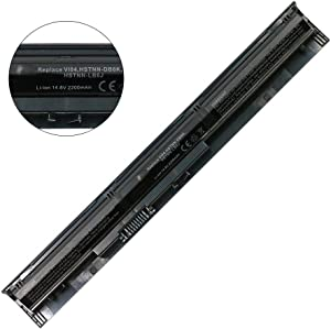 VI04 756743-001 Battery Replacement for HP ProBook 440 G2 450 G2 TPN Q139 Q140 Q141 Q142 Q143 fit for HP Envy 14 15 17 Series Spare 756743-001 756745-001 756479-421 HSTNN-DB6K HSTNN-LB6K