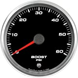 Speedhut GR33-BS02 Boost Gauge 0-60psi (With Warning LED), 3-3/8''