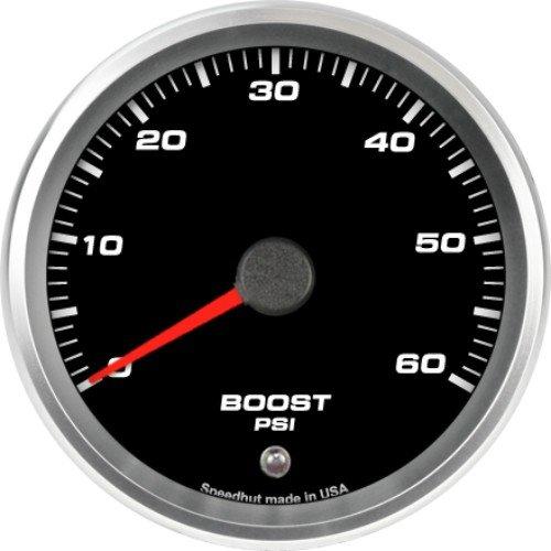 Speedhut GR33-BS02 Boost Gauge 0-60psi (With Warning LED), 3-3/8'' by SpeedHut