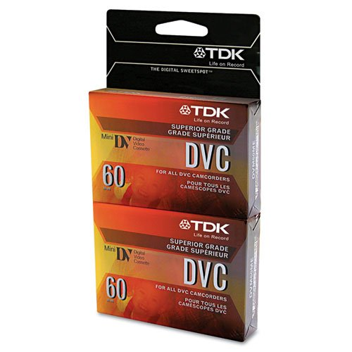 60-Minute Mini DVC Tapes (2 Pack)
