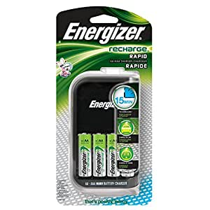 Energizer Compact Charger With 4 AA NiMH Rechargeable Batteries by Energizer