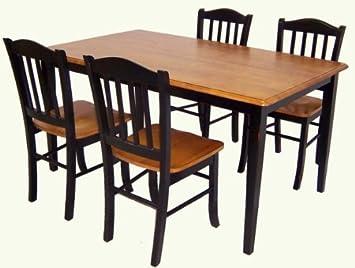 boraam shaker 5piece dining room set blackoak