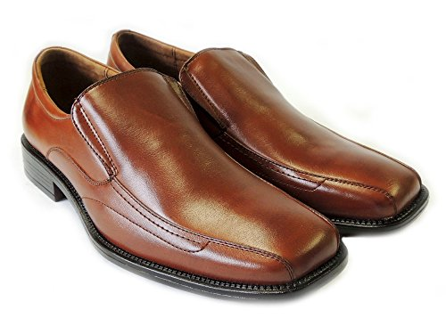 NEW DELLI ALDO MENS LEATHER LINED DRESS SHOES LOAFERS SLIP ON COMFORT FREE SHOE HORN M16062 /BROWN kimyjGuQz
