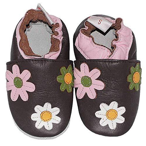 Para Color Flower Marrón Xs Bebé Glam Zapatos Babysteps Talla 1Fqnx0HtFw
