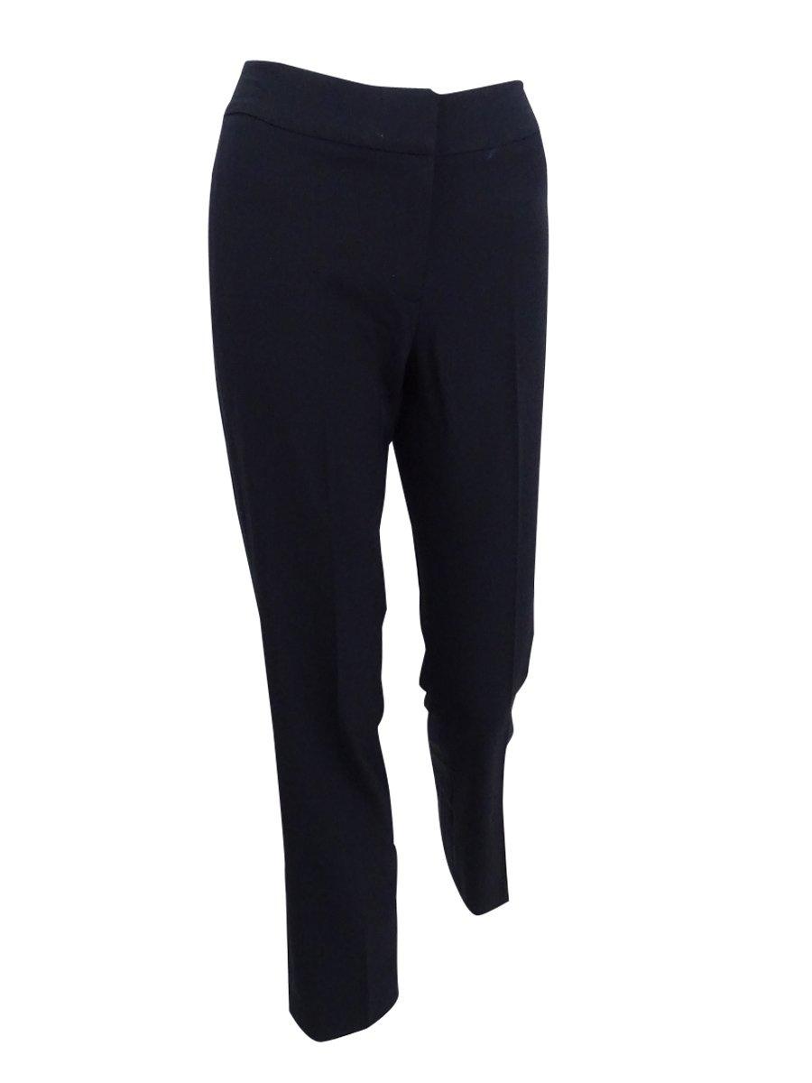 Tahari ASL Women's Plus Size Contrast-Trim Pantsuit (20W, Black/White) by Tahari (Image #3)