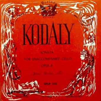 Kodaly: Sonata for Unaccompanied Cello, Op.8 / Janos Starker, Cello (Not a - Vinyl Unaccompanied Cello