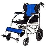 G&M Best Folding Wheelchair Full Arms Removable Footrest Drive Medical wheel locks Lightweight Foldable , black