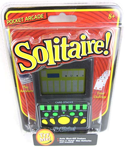 (Big Game Toys~Handheld Solitaire Electronic Pocket Arcade Travel Card Game)