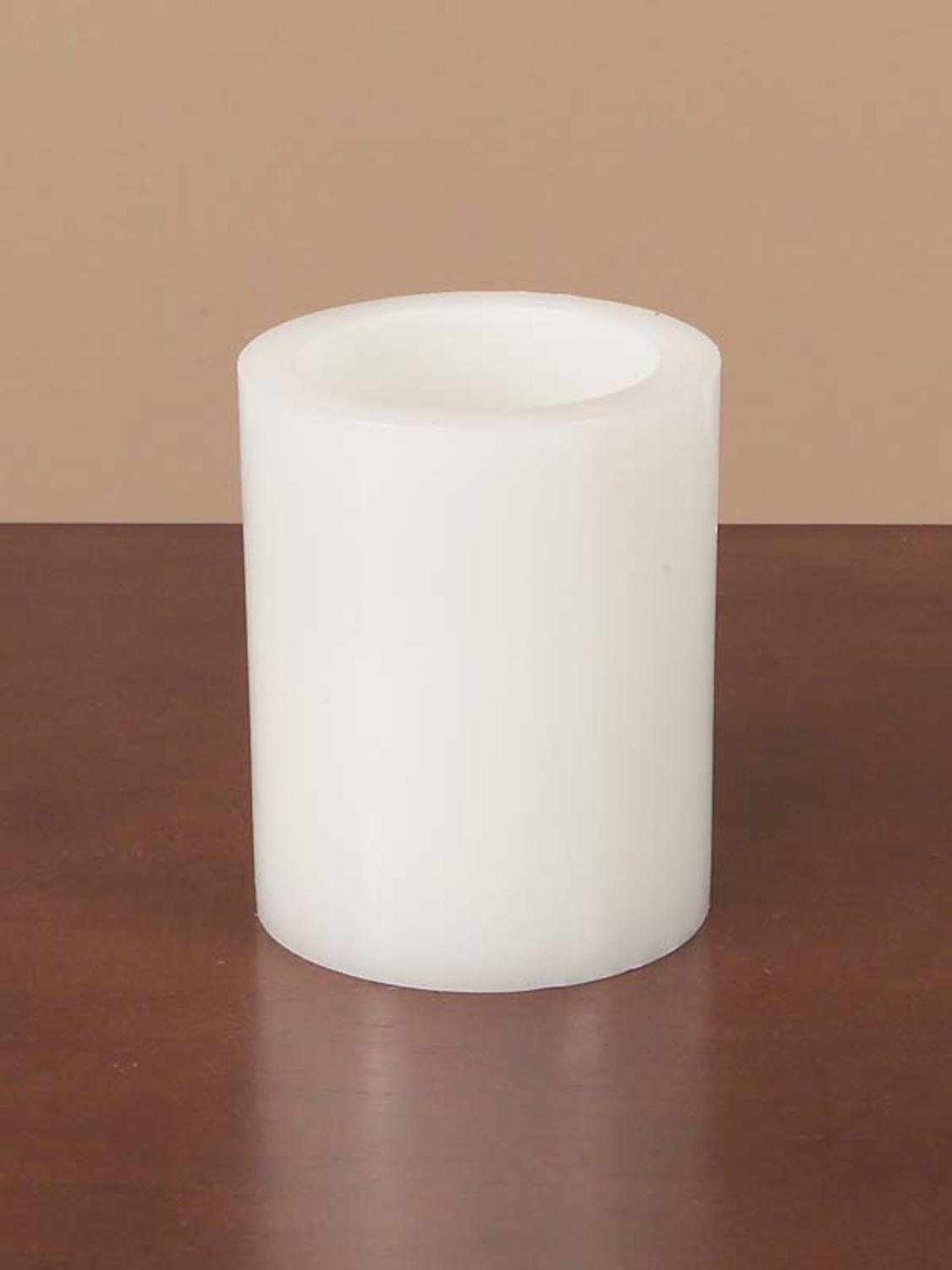 Pack of 6 White Battery Operated Flameless LED Wax Pillar Candles 5''