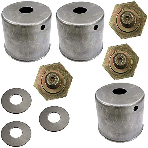 Three (3) Blade Bolt, Beveled Washer & Dust Cup Cover Sets for Kubota Mowers