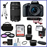 Canon EOS Rebel T7i DSLR Camera with 18-55mm Lens Video Creator Kit + 75-300mm III Lens + Telephoto & Wide Angle Lenses + More
