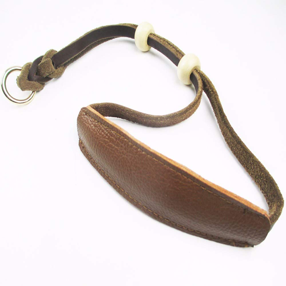 Brown Hhxx9 Pet Collar Easy to Pull Cowhide Collar Pet Retractable,Brown