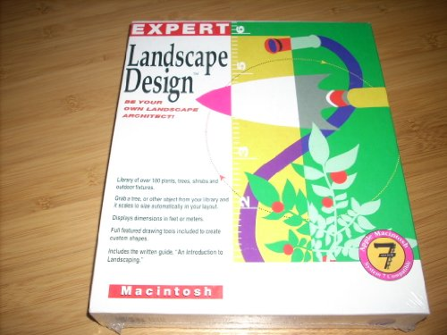 EXPERT Landscape Design Software for Macintosh. CD-Rom. 1992 Softsync. Apple Mac 7 Compatible. Be your own Landscape Architect.