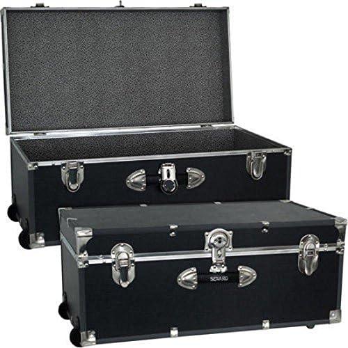 Mercury Luggage Seward Trunk Wheeled Storage Footlocker, 30 Model 6113-18 color Black