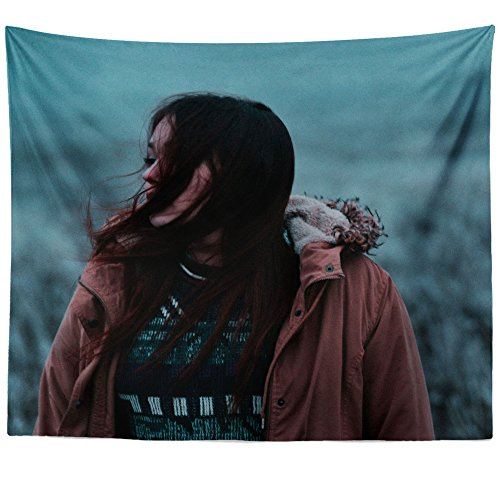 Westlake Art - Wall Hanging Tapestry - Winter Woman - Photography Home Decor Living Room - 26x36in
