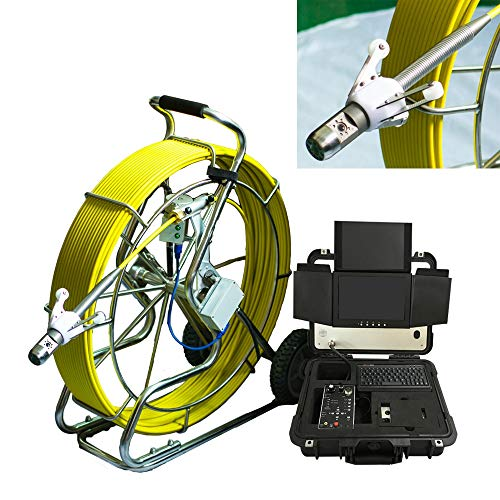TQ New 38mm HD Industrial Camera for Pipe Inspection with 80meters Push Rod Cable Reel & Meter Counter Function & 10