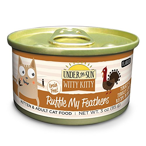 Canidae 10060 Under Ruffle My Feathers Grain Free Cat Wet Food With Turkey & Liver (24 Pack), 3 Oz