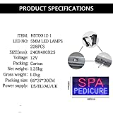 LED Spa Pedicure Sign for Business, Super Bright