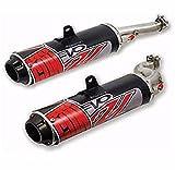 07 crf250r dual exhaust system - Big Gun EVO Sport Utility Dual Slip-On , Color: Black, Material: Aluminum 12-4662