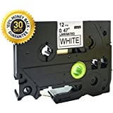 Generic Black on White Label Tape Compatible for Brother TZ 231 12mm P-Touch 8m