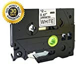 12Mm Label Printer - Black on White Label Tape Compatible for Brother TZ 231 TZe 231 12mm P-Touch 8m
