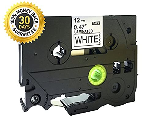 Black on White Label Tape Compatible for Brother TZ 231 TZe 231 12mm P-Touch 8m - White Tz Tape