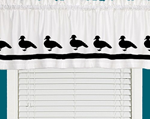 Wood Duck Waterfowl Bird Window Valance / Window Treatment - In Your Choice of Colors - Custom Made
