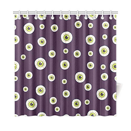 IIAKXNB Home Decor Bath Curtain Halloween Trick Treat