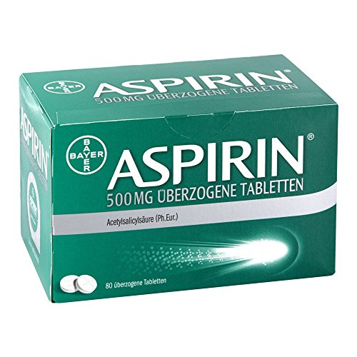 Aspirin 500 mg Überzogene Tabletten, 80 St