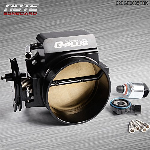 92mm Aluminum Throttle body + TPS IAC Throttle Position Sensor For LSX LS LS1 LS2 LS7 ()