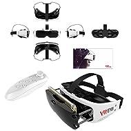 3d VR Headset, Bevifi Compact Lunettes de réalité virtuelle Headset Viewer + Télécommande pour iOS iPhone 7/7Plus/6/6S Plus, Android Samsung Galaxy S7edge S7/S6/S5/J7/A5/A32016et autres 3.5–15,2cm téléphone portable