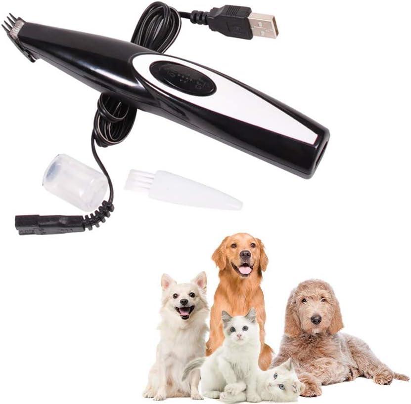 Ojos y o/ídos Podadoras para Perros Alimentadas por USB para Cortar /áreas Sensibles Podadoras Electr/ónicas de Bajo Ruido para Mascotas